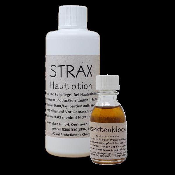 Strax-Hautlotion und Insekten-Blocker